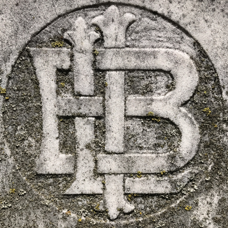 Bartenders International League of America emblem in Oakwood Cemetery. photo (c) Tui Snider