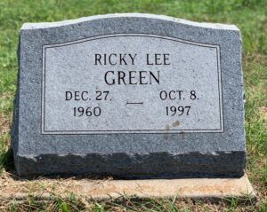 Ricky Lee Green's headstone. photo (c) Tui Snider
