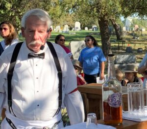 An actor brings Bartenders Row to life. photo (c) Tui Snider