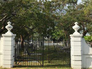 Star of David on cemetery gates in Miami photo (c) Tui Snider