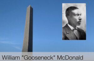 Obelisk erected for Gooseneck Bill McDonald. photo (c) Tui Snider