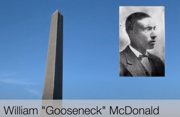 Obelisk erected for Gooseneck Bill McDonald. photo (c) Tui Snider
