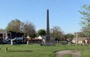Obelisk erected for Gooseneck Bill McDonald. photo (c) Tui SniderObelisk erected for Gooseneck Bill McDonald. photo (c) Tui Snider